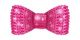 桃红色衣服饰物之小金属片蝶形领结 库存例证