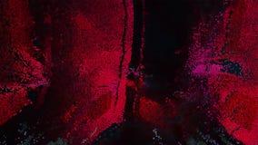 桃红色表面3D映象点艺术 免版税库存照片