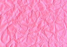 桃红色被弄皱的纸 免版税图库摄影