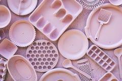 桃红色装饰厨具器物 库存照片