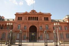 总统桃红色议院住处Rosada -布宜诺斯艾利斯-阿根廷 图库摄影