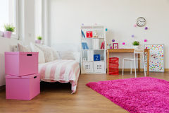 桃红色软的地毯 免版税图库摄影