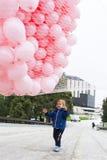 桃红色迅速增加乳腺癌 免版税库存图片