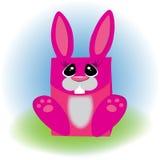 桃红色野兔 包装礼物的 图库摄影