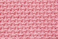 桃红色钩针编织背景 库存图片