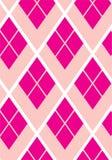 桃红色长菱形的几何无缝的传染媒介样式 库存照片