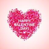 桃红色闪烁情人节心脏形状 导航婚姻的邀请的,贺卡背景 迷人闪耀 库存例证