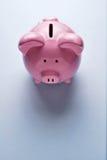桃红色陶瓷存钱罐 图库摄影