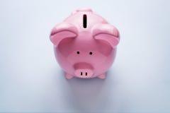 桃红色陶瓷存钱罐 库存照片