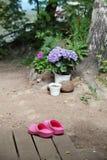 桃红色障碍物 库存照片