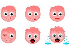 桃红色面带笑容 向量例证