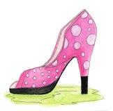 桃红色鞋子 图库摄影
