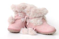 桃红色鞋子 免版税库存图片