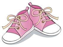 桃红色鞋子 皇族释放例证