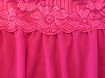 桃红色鞋带织品 库存照片