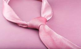 桃红色领带 库存照片