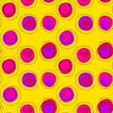 桃红色飘带五彩纸屑无缝的背景 库存图片
