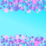 桃红色,紫色,蓝色传染媒介水彩在绿松石滴下  向量例证