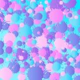 桃红色,紫色,蓝色,绿松石水彩背景正方形 皇族释放例证