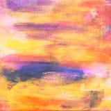 桃红色,蓝色和桔子绘了纹理背景 库存照片