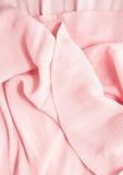 桃红色织品折叠 免版税图库摄影