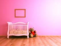 桃红色婴孩室 免版税库存照片
