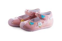 桃红色婴孩` s凉鞋 库存照片