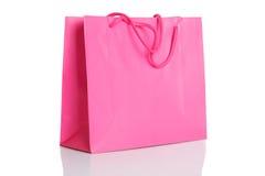 桃红色购物袋 免版税库存照片