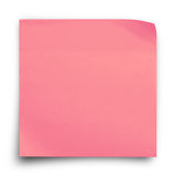 桃红色贴纸纸笔记 免版税库存图片
