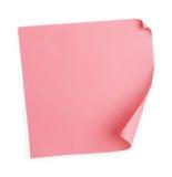 桃红色贴纸 库存照片