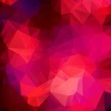 桃红色紫色抽象背景多角形。 库存例证