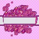 桃红色紫色抽象设计 图库摄影