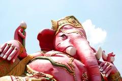 桃红色Genesha, Samanrattanaram寺庙:Chachoengsao泰国 图库摄影