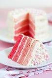 桃红色Ombre蛋糕 免版税库存照片