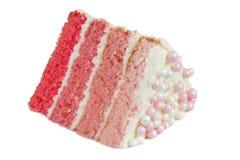 桃红色Ombre蛋糕 免版税库存图片