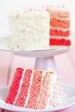 桃红色Ombre蛋糕 免版税图库摄影