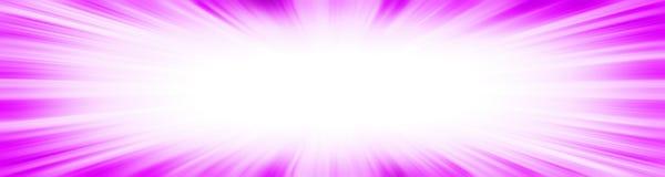 桃红色starburst爆炸横幅 库存图片