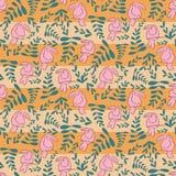 桃红色toucan条纹重复样式设计 皇族释放例证