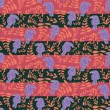 桃红色toucan条纹重复样式设计 库存例证