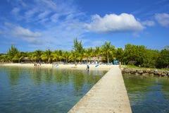 桃花心木海湾在Roatan,洪都拉斯 免版税库存照片