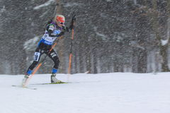 桃莉Laukkanen -两项竞赛 库存照片