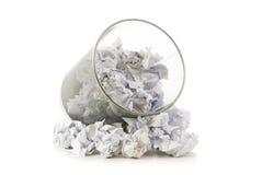 框垃圾查出的纸张浪费 免版税图库摄影