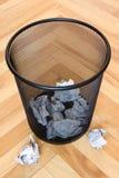 框垃圾纸张浪费 免版税库存照片