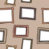 画框无缝的样式 免版税库存照片