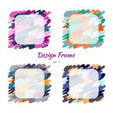 框架五颜六色的伪装和纹理 免版税库存照片