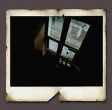 框架人造偏光板葡萄酒 库存照片