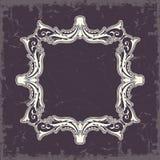 框架例证内部样式对称的向量葡萄酒 图库摄影