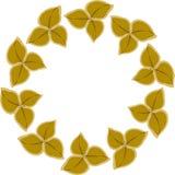 框架例证叶子mustarad花圈 免版税库存图片