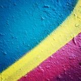 框架例证文本向量 concreat表面上的五颜六色的油漆 被定调子的过滤器 免版税图库摄影