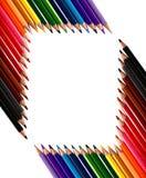 框架做的色的蜡笔书写 库存图片